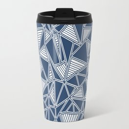 Abstract Outline Lines Navy Travel Mug