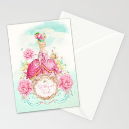 Marie Antoinette Let them Eat Cake Stationery Cards