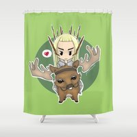 thranduil Shower Curtains featuring  Thranduil by YattaGiulia
