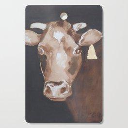 Gold Earring - Cow portrait Cutting Board