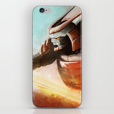 Cyborg samurai iPhone & iPod Skin