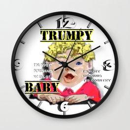 Trumpy Baby Invasion Wall Clock