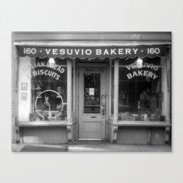 Vesubio Bakery (B/W) Canvas Print