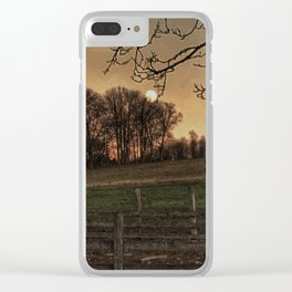 Super Moon over the Farm Clear iPhone Case
