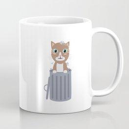 Cute Cat In the trash can   Coffee Mug