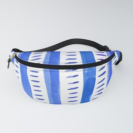 Watercolor lines - blue Fanny Pack