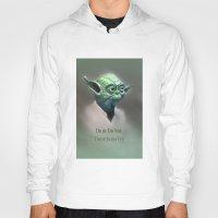 yoda Hoodies featuring Yoda by Big Tortoise Art (Art by JasonKoelliker)
