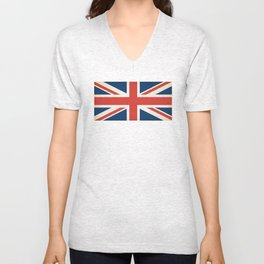 Union Jack UK Flag Unisex V-Neck