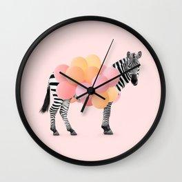 PARTY ZEBRA Wall Clock