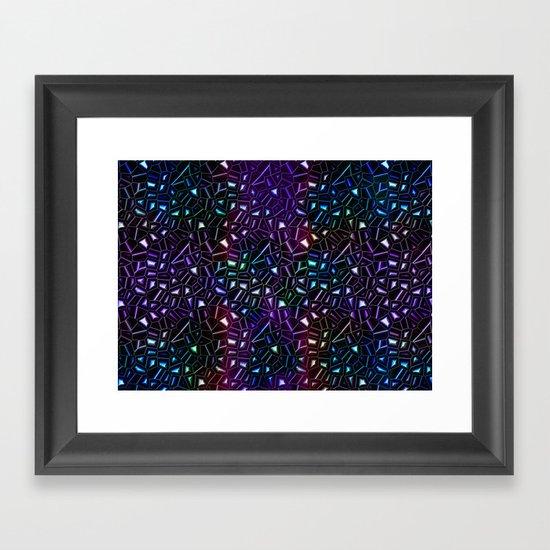 Midnight Rainbow Glitter Framed Art Print