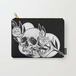 Rose branch skull Carry-All Pouch