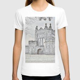 Ireland Kikenny Castle Artistic Illustration Pencil Style T-shirt