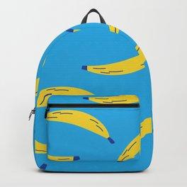Bananas on blue Backpack