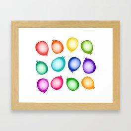 Birthday Party Balloons Framed Art Print