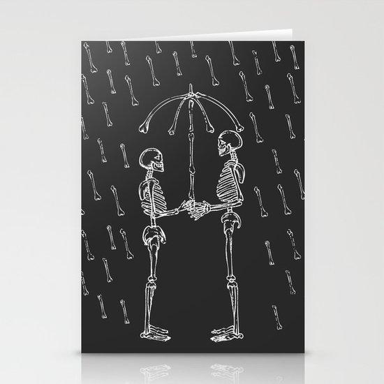 Raining Bone Stationery Cards