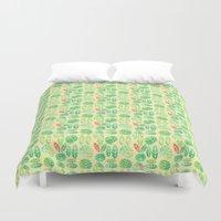 minimalist Duvet Covers featuring minimalist spring by serenita