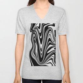 Stripes, distorted 2 Unisex V-Neck