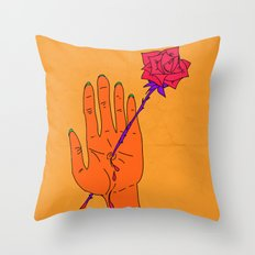 Wounded Hand - Golden yellow Throw Pillow