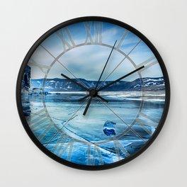 Lake Baikal. March Wall Clock