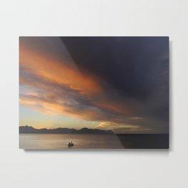 Sicilian sunset Metal Print