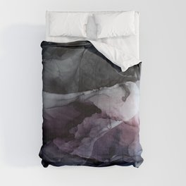 Moody Dark Chaos Inks Abstract Comforters