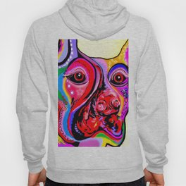 Doberman Pinscher Close Up Bright Colors Hoody