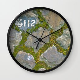 mossy stone marker Wall Clock