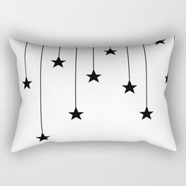 Hang The Stars (In Black and white) Rectangular Pillow