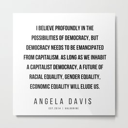 59      |  Angela Davis | Angela Davis Quotes |200609 Metal Print
