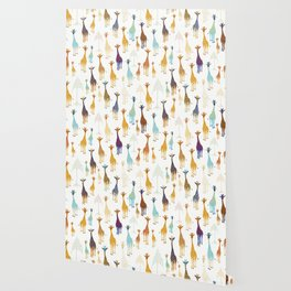 Giraffe of a different Color: white background Wallpaper