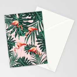 Summer Flamingo Jungle Vibes #1 #tropical #decor #art #society6 Stationery Cards