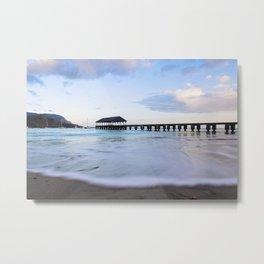 Hanalei Bay Pier at Sunrise Metal Print