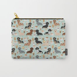 Dachshund coffee lover must have pet gifts dachsie doxie dog weener dog Carry-All Pouch