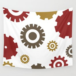 Steam Age Gears Wall Tapestry