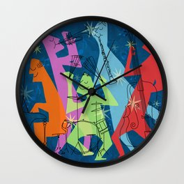 Mid-Century Modern Jazz Band Wall Clock