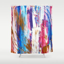 The One With The Swirly Target Shower Curtain