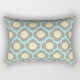 Orla Floral Grey Rectangular Pillow