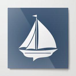 Nautical Sailing Ship Boat Metal Print