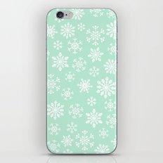 minty snow flakes iPhone & iPod Skin