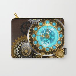 Unusual Clock with Gears ( Steampunk ) Carry-All Pouch