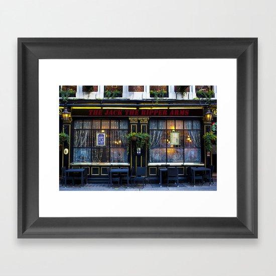 The Jack the Ripper Pub  Framed Art Print