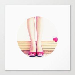 Rojo que te quiero rojo Canvas Print