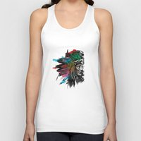 indian Tank Tops featuring Indian  by mark ashkenazi