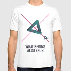 WHAT BEGINS ALSO ENDS MEDIUM Mens Fitted Tee White