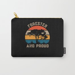 Forester And Proud - Retro Forest Lover Carry-All Pouch