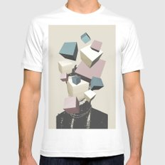 Queen of Cubes White Mens Fitted Tee MEDIUM