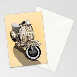 Vespa Tattoo Oldstyle Stationery Cards