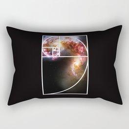Fibonacci Spiral Galaxy Rectangular Pillow