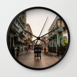 Havana city tuk tuk, Cuba  Wall Clock