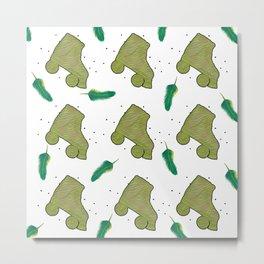 Fun in green Metal Print